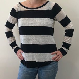 Madewell Striped Line Sweater Top